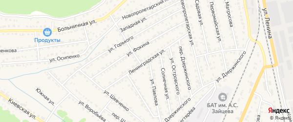 Ленинградская улица на карте Жуковки с номерами домов