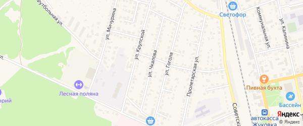 Улица Чкалова на карте Жуковки с номерами домов