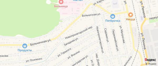 Новопролетарский переулок на карте Жуковки с номерами домов