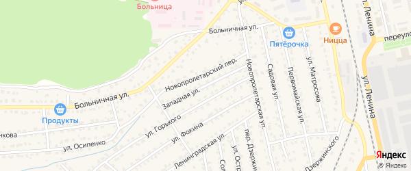 Западная улица на карте Жуковки с номерами домов