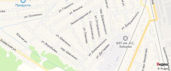 Улица Павлова на карте Жуковки с номерами домов