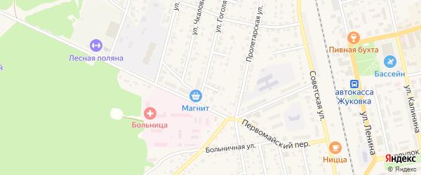Улица 1-й тупик Гоголя на карте Жуковки с номерами домов