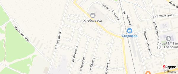 Крупской переулок на карте Жуковки с номерами домов