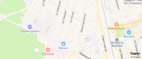 Улица 2-й тупик Гоголя на карте Жуковки с номерами домов