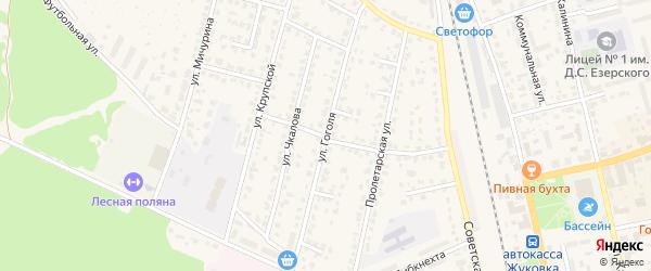 Улица Гоголя на карте Жуковки с номерами домов