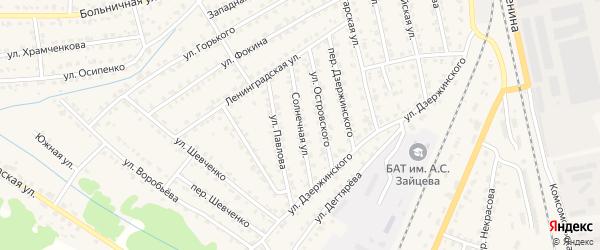 Солнечная улица на карте Жуковки с номерами домов