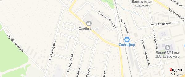 Улица 4-й тупик Гоголя на карте Жуковки с номерами домов