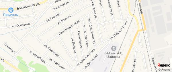 Улица Островского на карте Жуковки с номерами домов