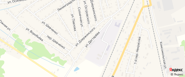 Улица Дегтярева на карте Жуковки с номерами домов