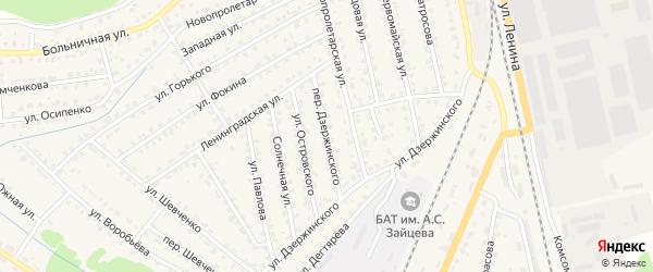 Переулок Дзержинского на карте Жуковки с номерами домов