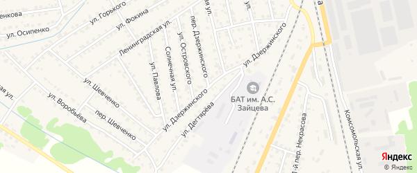 Улица Дзержинского на карте Жуковки с номерами домов
