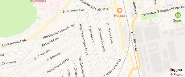Садовая улица на карте Жуковки с номерами домов