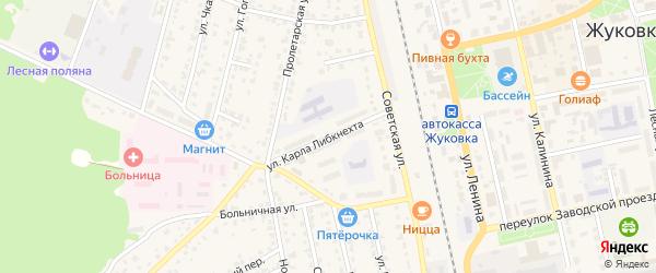Улица Карла Либкнехта на карте Жуковки с номерами домов