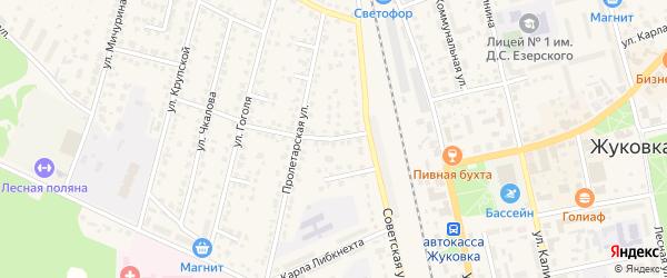1-й Советский переулок на карте Жуковки с номерами домов