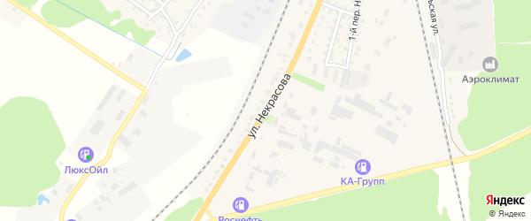 Улица Некрасова на карте Жуковки с номерами домов