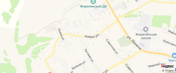 Новая улица на карте села Жирятино с номерами домов