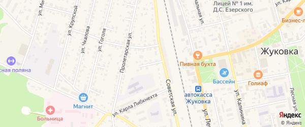 2-й Советский переулок на карте Жуковки с номерами домов
