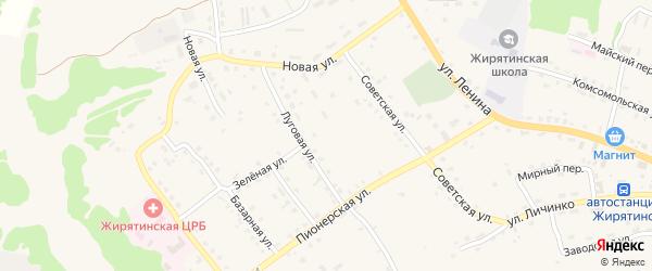 Улица Толкачева на карте села Жирятино с номерами домов