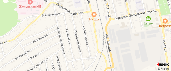Улица Матросова на карте Жуковки с номерами домов