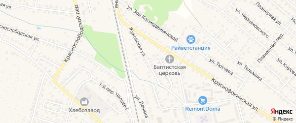 Жуковская улица на карте Жуковки с номерами домов