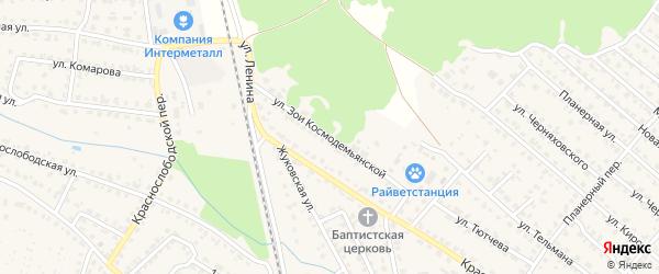Улица Зои Космодемьянской на карте Жуковки с номерами домов