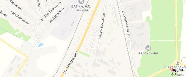 Переулок 2-й Некрасова на карте Жуковки с номерами домов