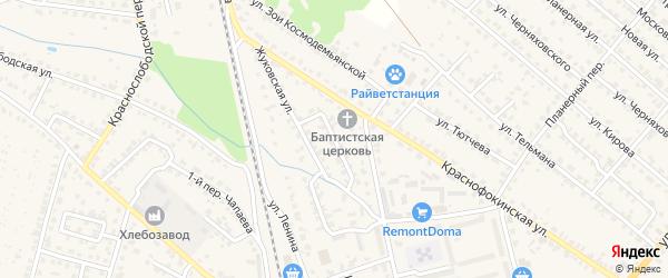 Жуковский переулок на карте Жуковки с номерами домов