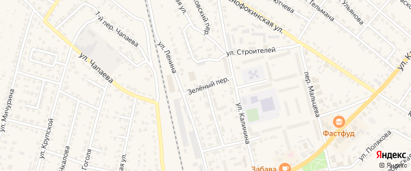 Коммунальная улица на карте Жуковки с номерами домов