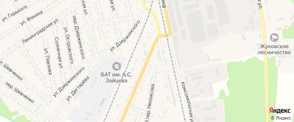 Улица Железнодорожный городок на карте Жуковки с номерами домов