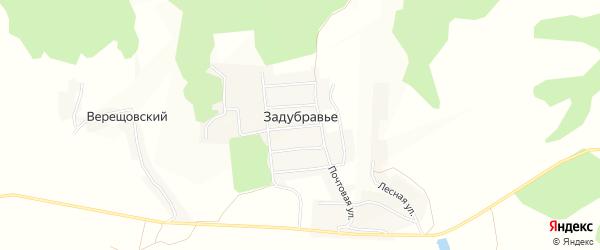 Карта деревни Задубравья в Брянской области с улицами и номерами домов