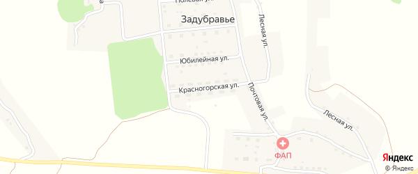 Красногорская улица на карте деревни Задубравья с номерами домов