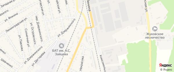 Территория ГСК по ул Некрасова на карте Жуковки с номерами домов