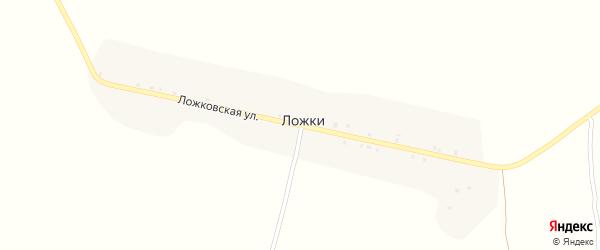 Ложковская улица на карте поселка Ложки с номерами домов