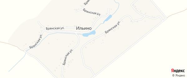 Брянская улица на карте деревни Ильино с номерами домов