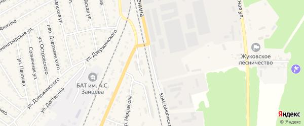 Комсомольская улица на карте Жуковки с номерами домов