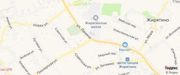 Улица Ленина на карте села Жирятино с номерами домов