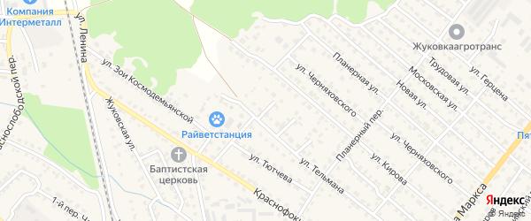 Улица 1-й тупик Тельмана на карте Жуковки с номерами домов