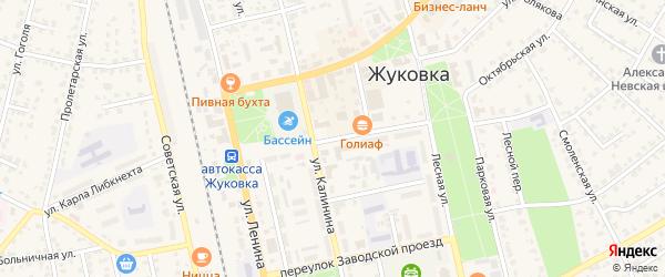 Почтовая улица на карте Жуковки с номерами домов