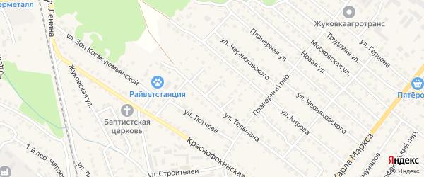 Улица 2-й тупик Тельмана на карте Жуковки с номерами домов
