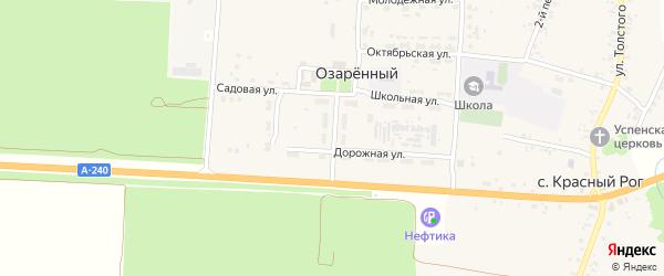 Центральная улица на карте Озаренного поселка с номерами домов