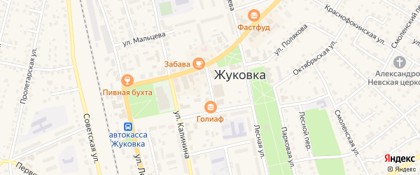 Почтовый переулок на карте Жуковки с номерами домов
