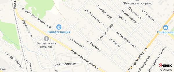 Улица 3-й тупик Тельмана на карте Жуковки с номерами домов