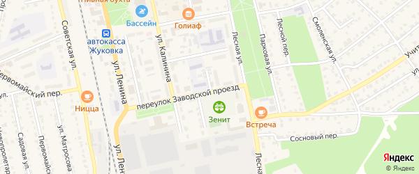 Улица Рабочий городок на карте Жуковки с номерами домов