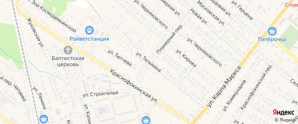 Улица Тельмана на карте Жуковки с номерами домов