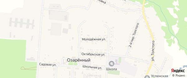 Молодежная улица на карте Озаренного поселка с номерами домов