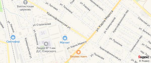 Краснофокинская улица на карте Жуковки с номерами домов