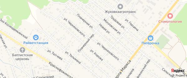 Улица Черняховского на карте Жуковки с номерами домов
