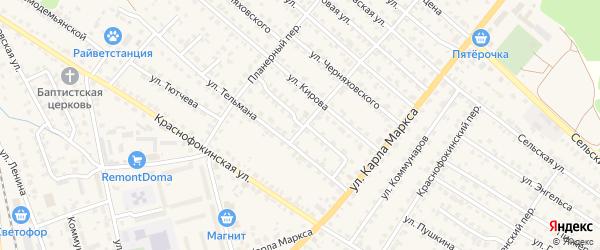 Улица Ульянова на карте Жуковки с номерами домов