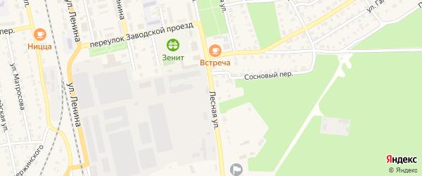 Лесная улица на карте Жуковки с номерами домов