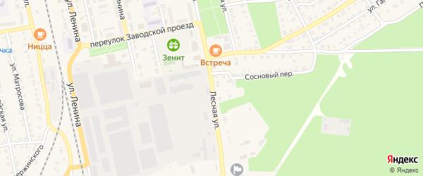 Лесная улица на карте поселка Богачевки с номерами домов